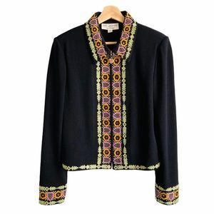 St. John Crystal Embroidered Jacket